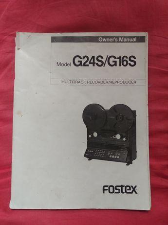 Manual Fostex G24S/G16S multitrack recorder reproducer