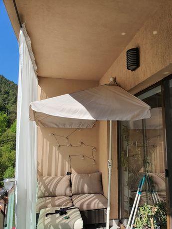 Umbrela dreptunghiulara de balcon/ terasa