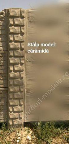 Stalpi simpli si cu model pentru garduri din placi beton prefabricate