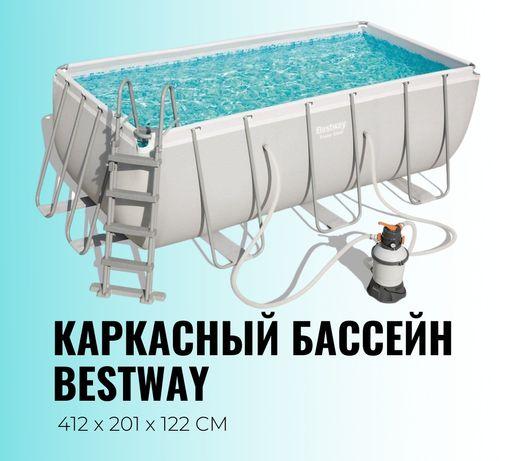 Каркасный бассейн производство bestway 56457