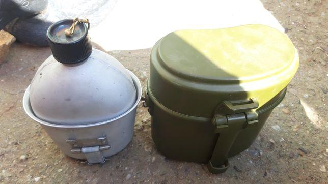 Vand canistra din metal pentru apa si mancare