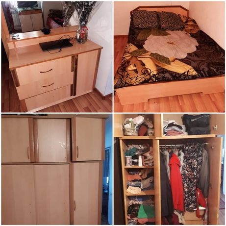 шкаф, тумбочка, кровать,