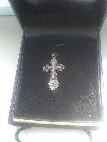 продам серебряный крестик проба 925