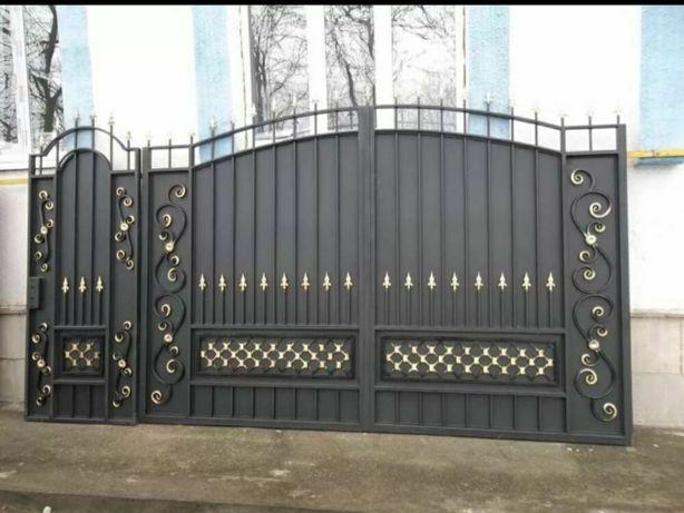 Ворота на заказ. Ворота. Перила. Рещетка. Лист 1мм толщина трубы 1.5мм