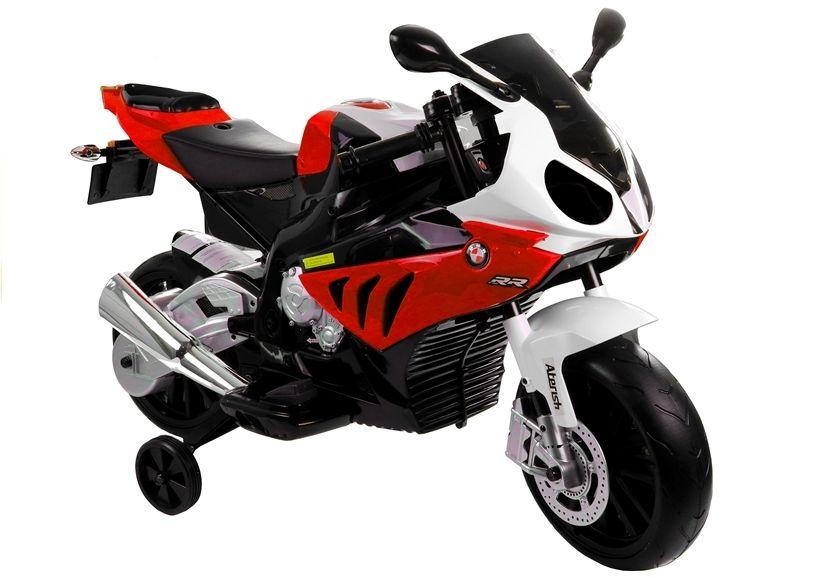 Motocicleta electrica cu roti ajutatoare BMW S1000RR PREMIUM #Rosu