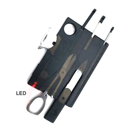 Карта с инструменти 10 в 1 с LED фенер
