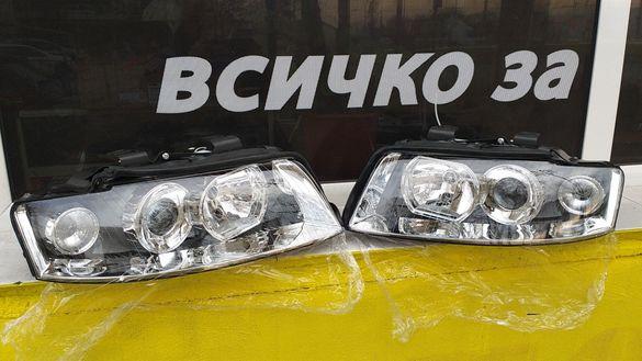 Ауди А4 фарове с лупа Audi A4 B6 фар А 4 светлини farove A 4 / B6