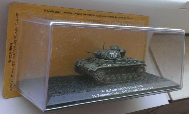 Macheta Tanc Panzer 3 Sd.Kfz.141 Germania 1941 WW2 - Altaya 1/72