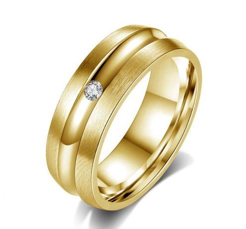 GPR209,inel placat aur 18k, model verigheta, zircon alb