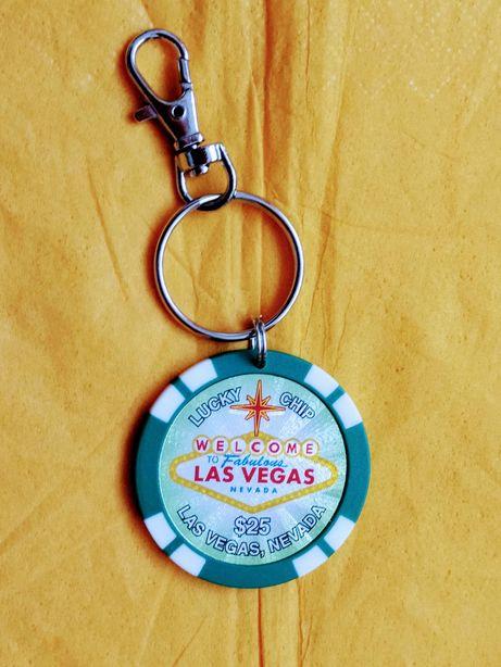 Breloc- Lucky chip-Welcome to Fabulous Las Vegas Nevada $25- NOU.
