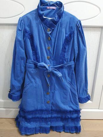 Palton damă albastru,marimea M-L