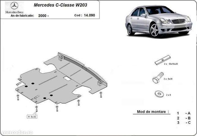 Scut metalic pentru motor Mercedes C-Classe W203 - otel 2mm