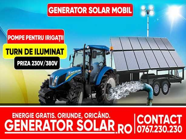 Generator Fotovoltaic Mobil- Remorca Solara
