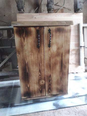 Шкаф за баня с плот от орех