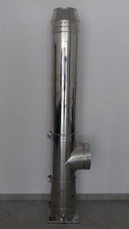 COS DE FUM INOX , Diam interior 120mm, H=6M, dublu perete , izolat