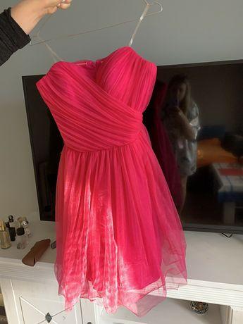 Официална рокля цвят малина