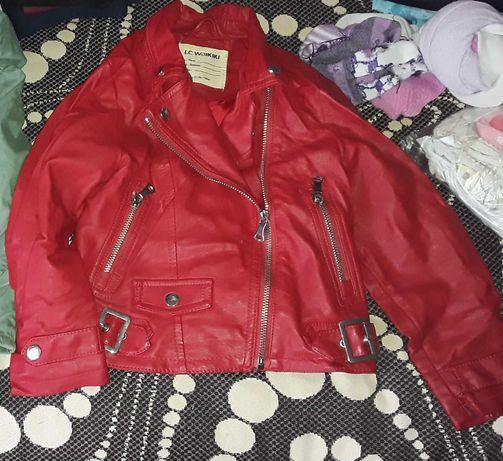 Коженая детская куртка
