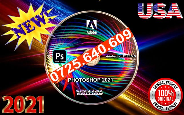Adobe Photoshop 2021-DVD SIGILAT-3 Licente Perm - Vezi Anunturile Mele