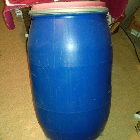 Butoi plastic 120 litri cu capac cu cerc