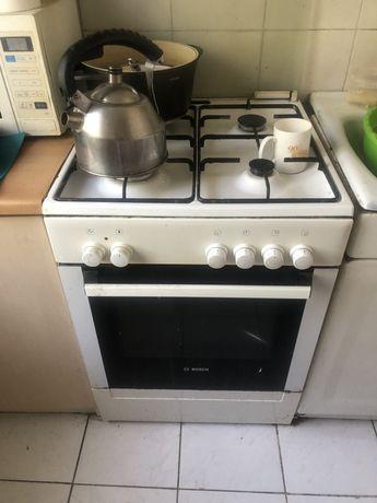 Газовая плита Бош, большая, электрич духовка