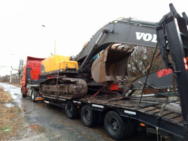 Transport Agabaritic- Trailer 40 T Utilaje-Combine-Tractoare-Camioane