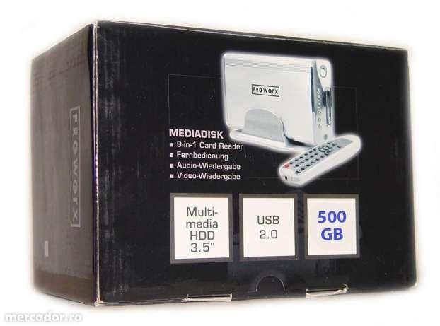 Multimedia cu HDD 500gb si Telecomanda NOU