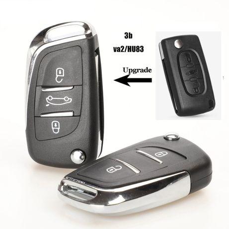Кутийка ключ Пежо/Peugeot key shell peugeot