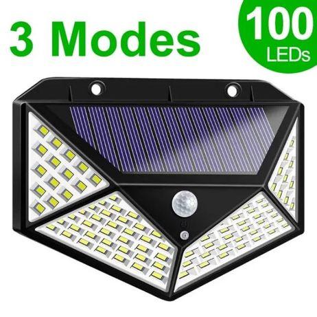 Водоустойчива градинска соларна лампа - 100 LED 270 °