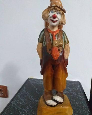 Statueta lemn clovn 31cm