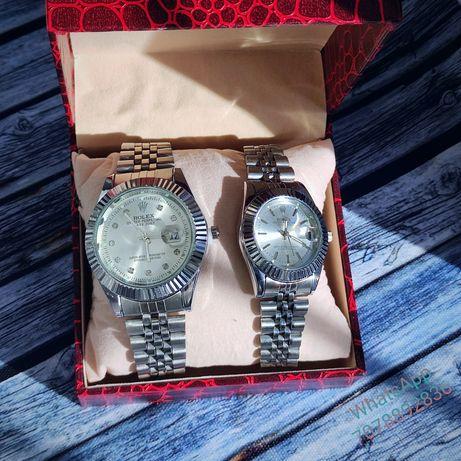 Парные часы Rolex новые. Мужские женские наручные часы. Ролекс Подарок