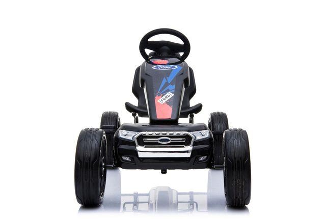 Kinderauto GO Kart cu pedale de la FORD cu ROTI Gonflabile #Negru