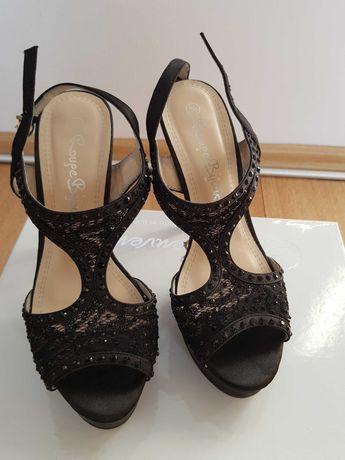 Sandale negre material