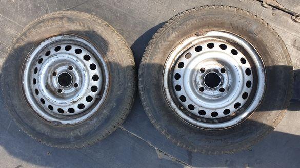Джанти 4х100 опел с гуми 165 70 13 унироял