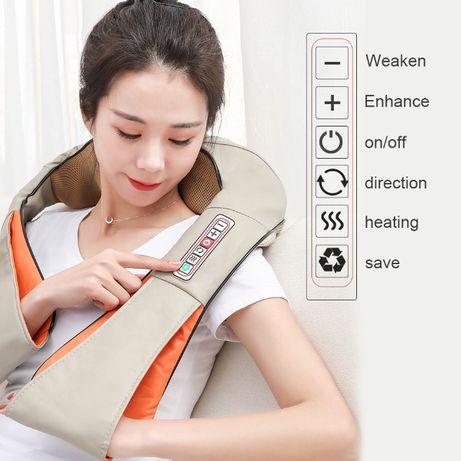 4Д Шиацу 6 бутона рамо масажор за тяло гръб врат затопляне масаж пода