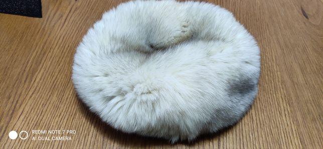Căciulă  din vulpe argintie