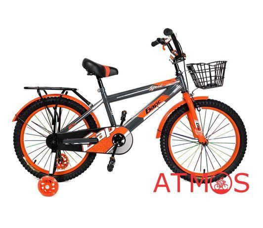 Детский велосипед Барс 20 | Год гарантии | Цвет: серый-оранжевый