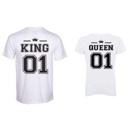 Дамски тениски с щампи Комплект мъжка и дамска тениска цена 29.99 лв.