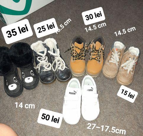 Incaltaminte baieti 14-14.5-15.5-17.5 cm interior