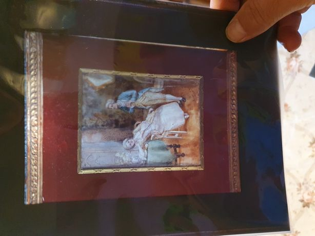 Clișeu, poza cu tablou semnat Laure Levy 1866-1954