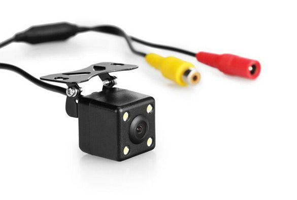 Водоустойчива HD мини камера за задно виждане, нощно виждане, 4 LED 12