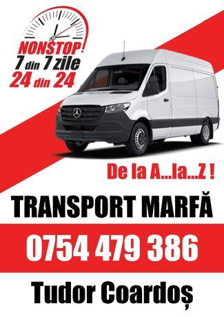 Transport marfa de la A..la..Z. Diponibilitate 24 din 24, 7 din 7.