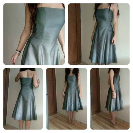 Шаферска бална официална рокла Battibaleno сива S С