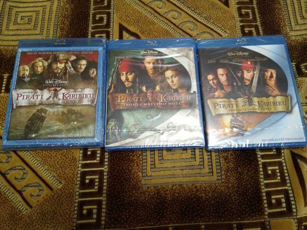Pirații din Caraibe 1 2 3 bluray cu română