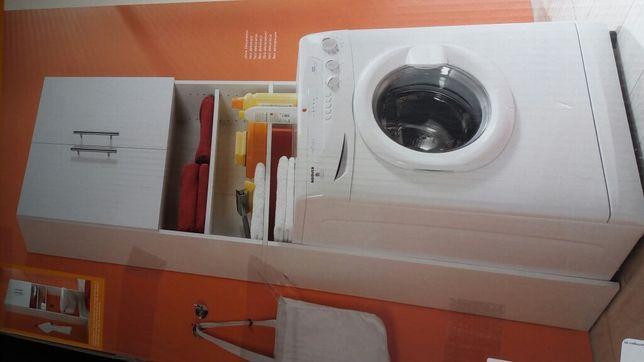 Mobilier organizare baie, mașina de spălat, dulap, polițe, sertar rufe