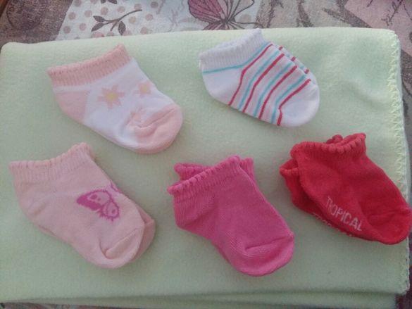 Чорапки за малка госпожица(0м-3м)