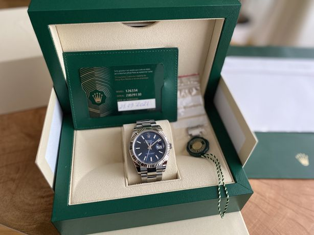 Rolex Datejust 41, Oyster 41mm, Oystersteel and white gold!!! Nou 2021