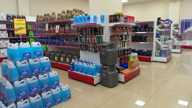 Металлические стеллажи и торговое оборудование в магазин