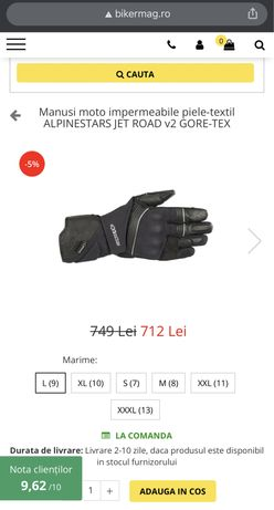 Manusi moto impermeabile Alpinestars Jet Road V2 Gore-Tex - size L