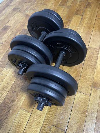 Set gantere reglabile 20 kg