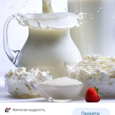 Домашняя сметана,творог,сливочное масло,молоко,кефир
